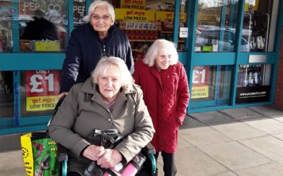 The Old Downs Residential Care Home residents enjoy a shopping outing