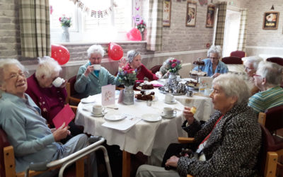 The Old Downs Residential Care Home residents celebrate Mothers Day