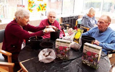 Gardening Club prepares for summer at The Old Downs Residential Care Home