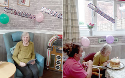 Happy birthday Vera at The Old Downs Residential Care Home