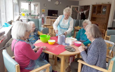 Home chores and crafts at The Old Downs Residential Care Home