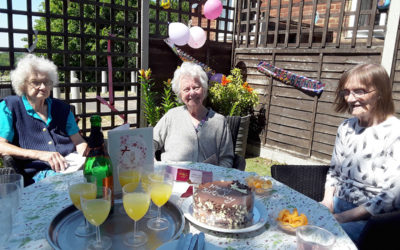 Birthday wishes to Margaret at The Old Downs Residential Care Home