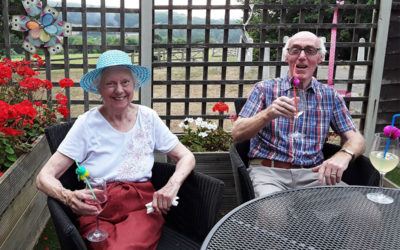 Popping the Prosecco at The Old Downs Residential Care Home