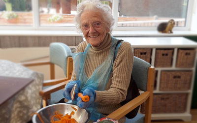 Doreen lends a helping hand at The Old Downs Residential Care Home