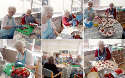 The Old Downs Residential Care Home ladies create magnificent meringues