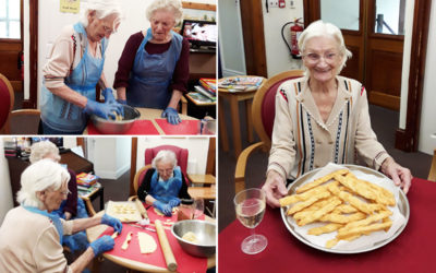 Baking cheese straws at The Old Downs Residential Care Home