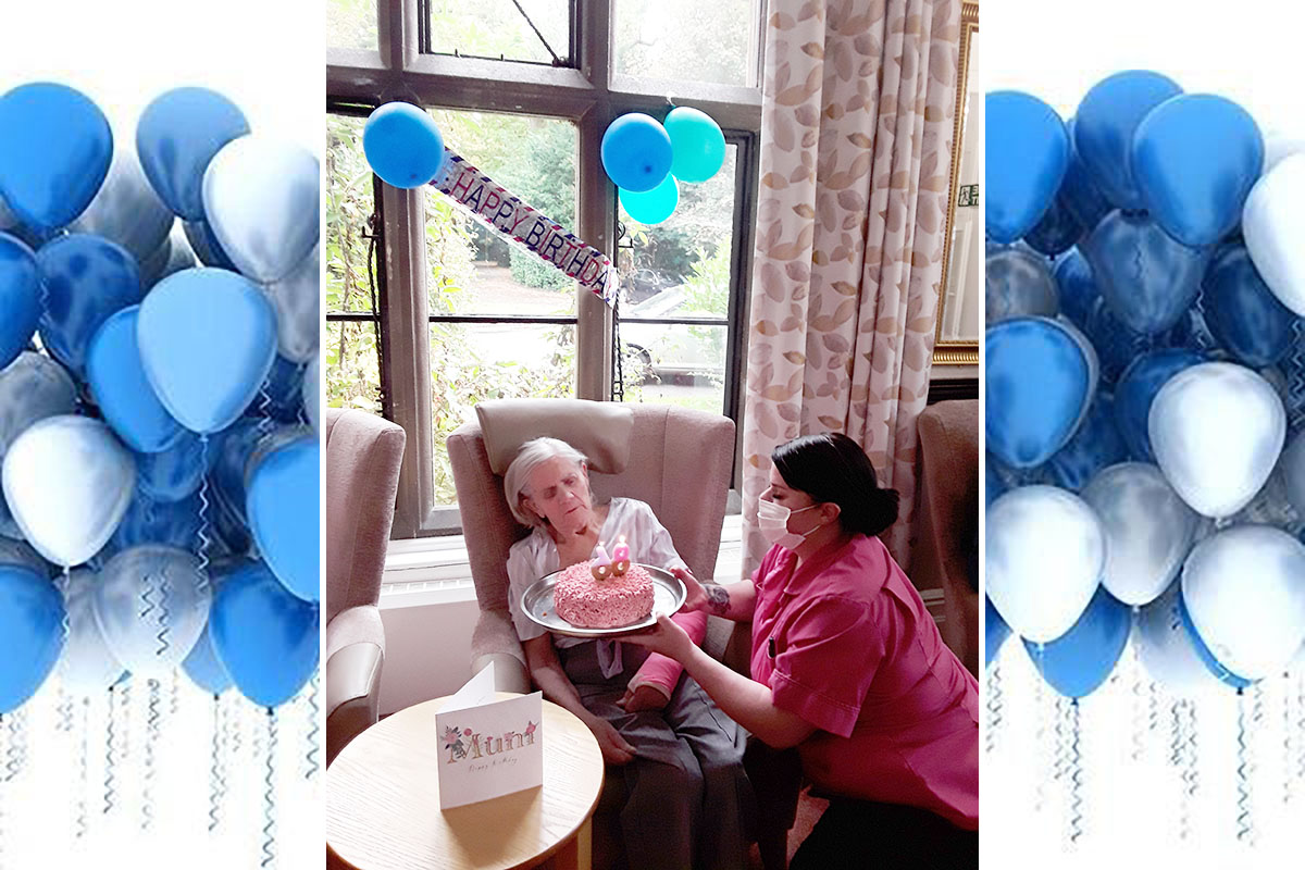 Happy birthday to Violet at The Old Downs Residential Care Home