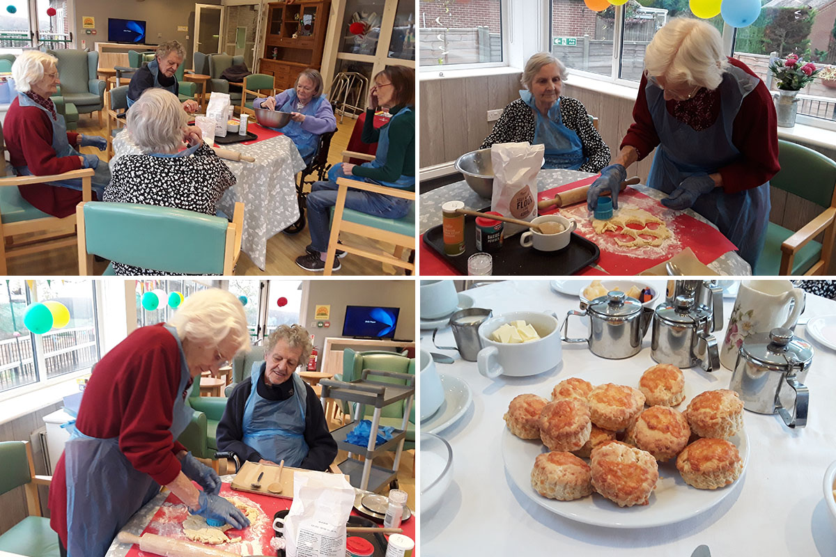 Cheese scones bake and taste at The Old Downs Residential Care Home