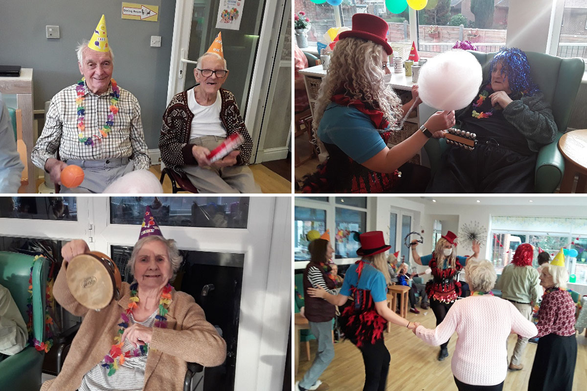 Carnival Party fun at The Old Downs Residential Care Home