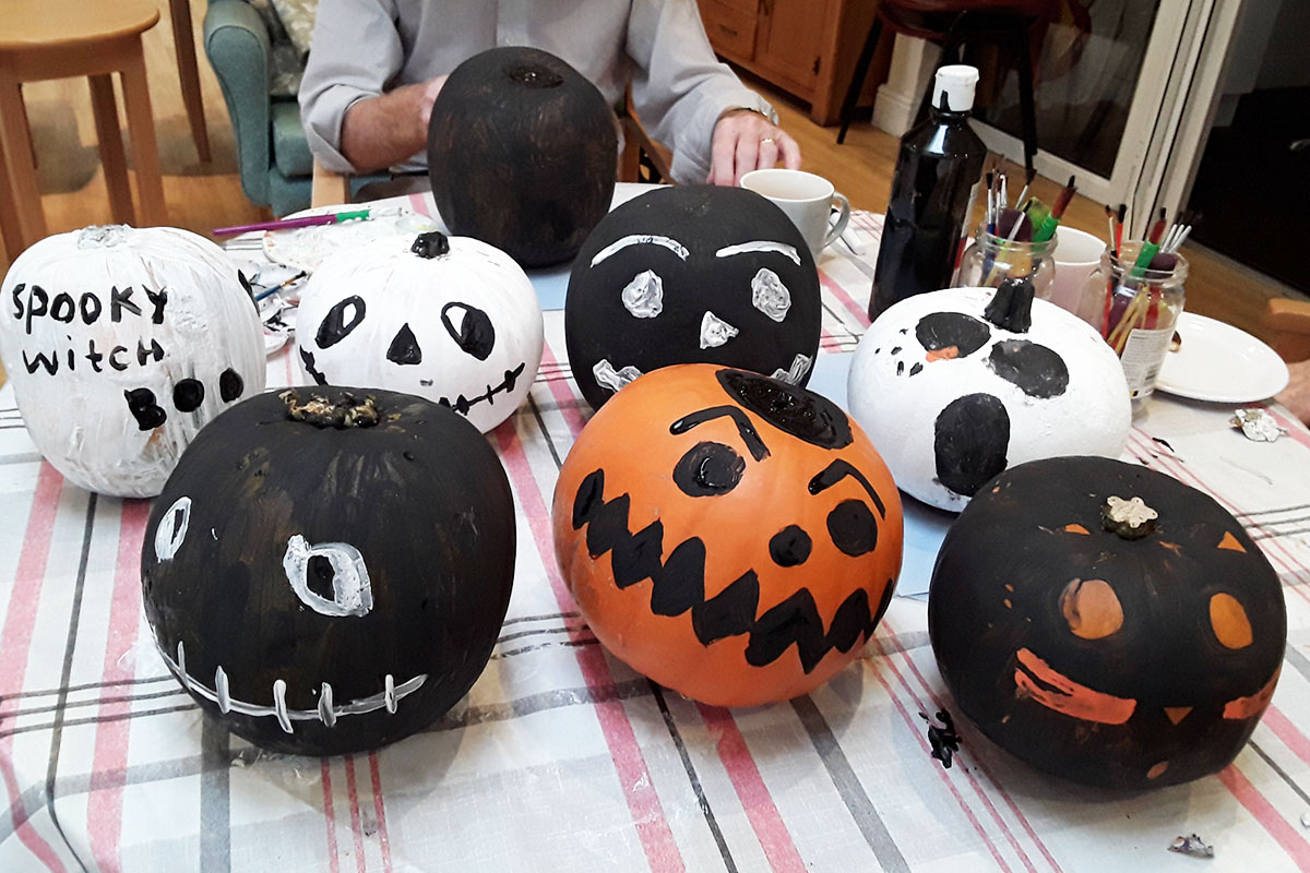Halloween crafts and fun at The Old Downs Residential Care Home