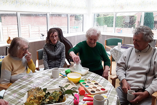 Testing the senses at The Old Downs Residential Care Home