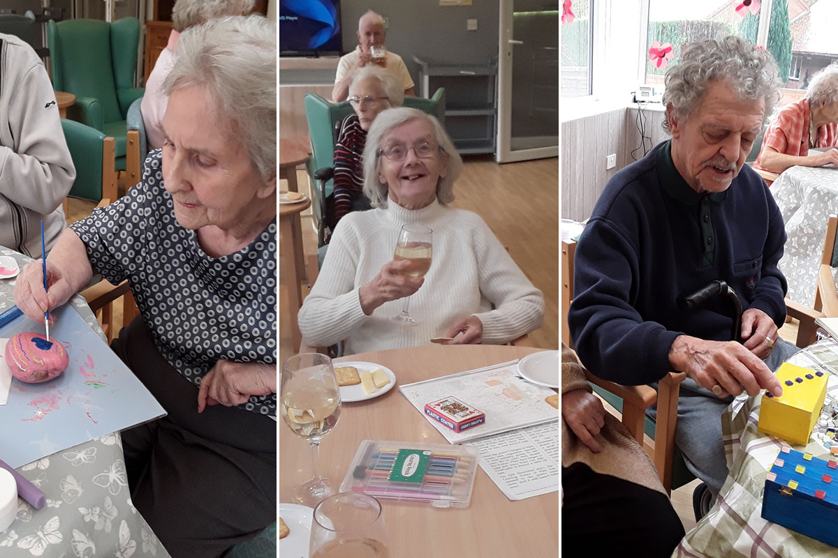 Good times and cheeky drinks at The Old Downs Residential Care Home