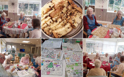 Around the world festivities at The Old Downs Residential Care Home
