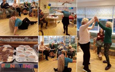 Circus party at The Old Downs Residential Care Home