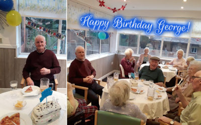 Happy birthday George at The Old Downs Residential Care Home