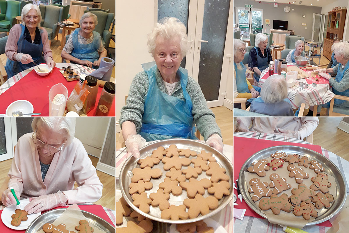Making gingerbread treats at The Old Downs Residential Care Home