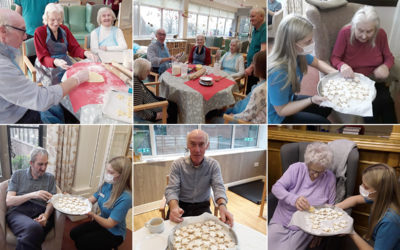 Shortbread making at The Old Downs Residential Care Home