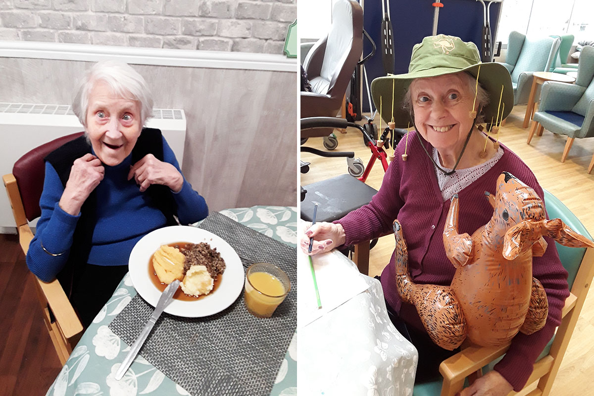 Burns Night and Australia Day at The Old Downs Residential Care Home