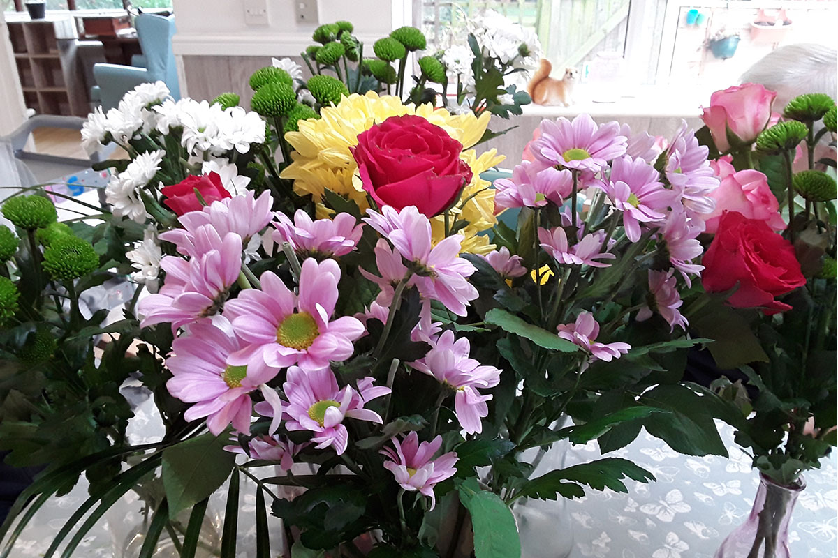 A celebration of flowers at The Old Downs Residential Care Home