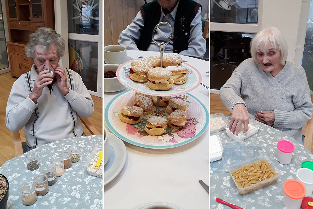 Sensory activities and scone making at The Old Downs Residential Care Home