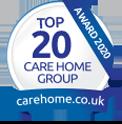 Top 20 Care Home Group Award Logo