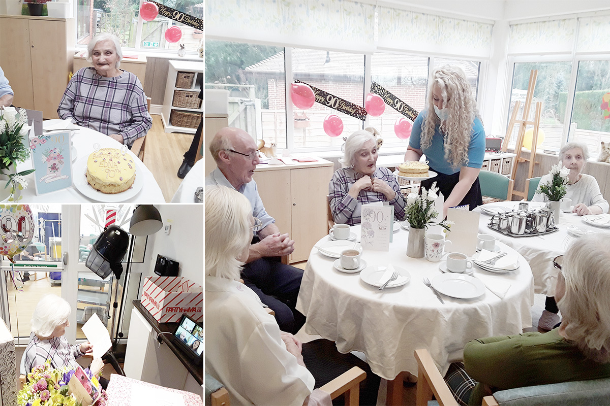 Edna turns 90 at The Old Downs Residential Care Home