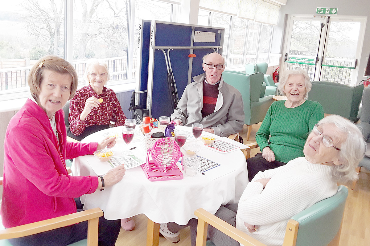 Lucky sevens at The Old Downs Residential Care Home