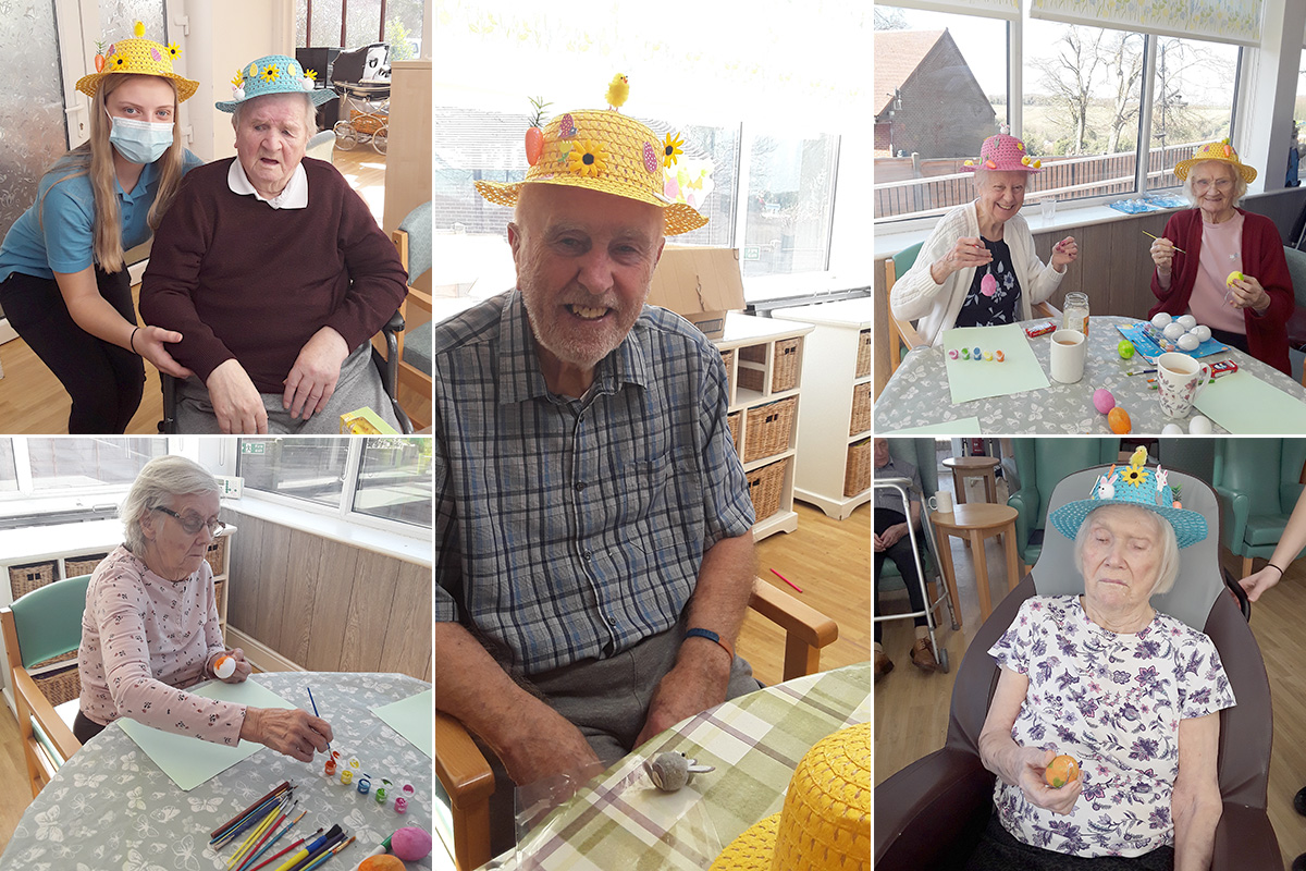 Easter crafts at The Old Downs Residential Care Home