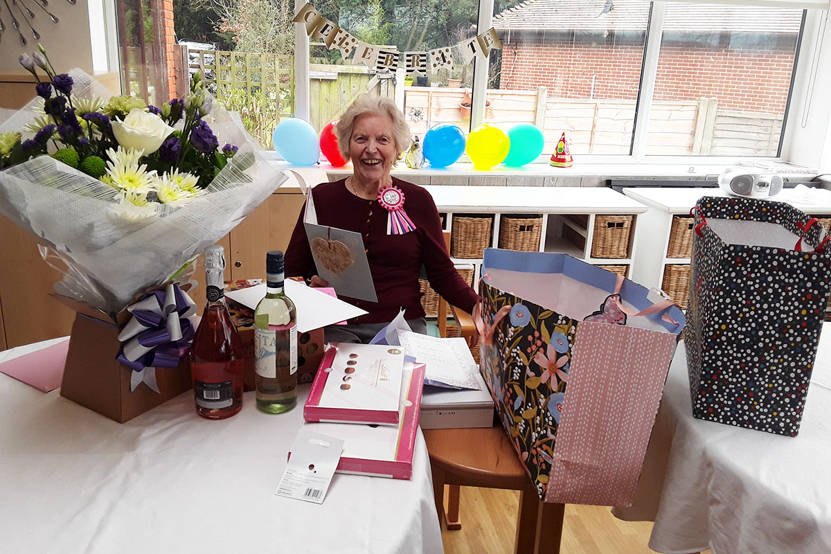 Happy birthday to Jean at The Old Downs Residential Care Home