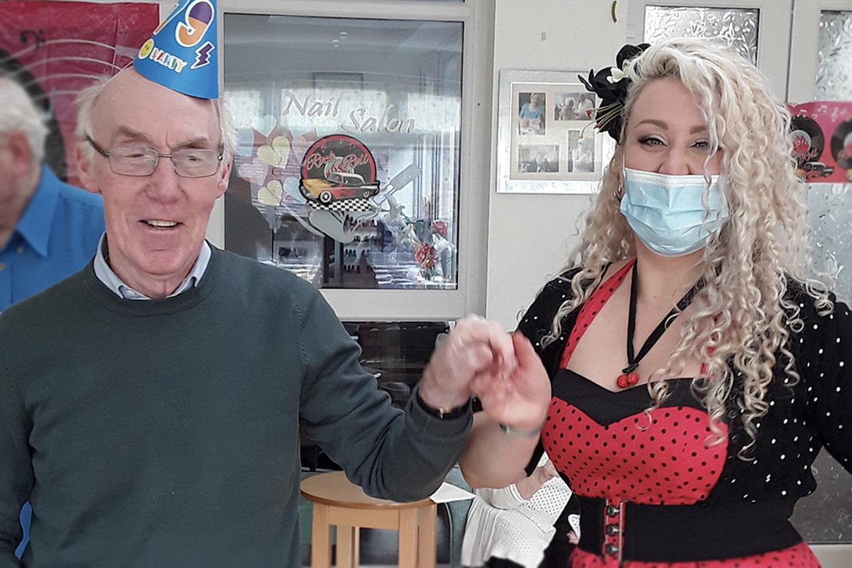 John's special day at The Old Downs Residential Care Home