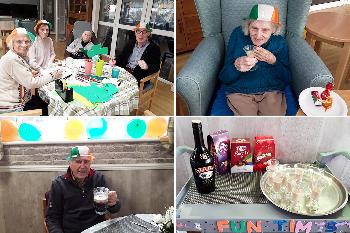 CelebratingSt PatricksDay at The Old Downs Residential Care Home