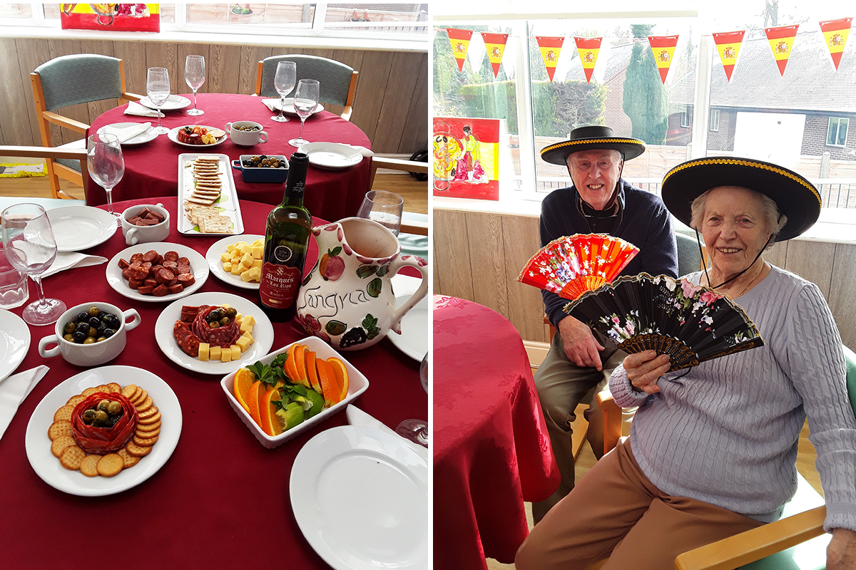 A delicious day celebrating Spain at The Old Downs Residential Care Home