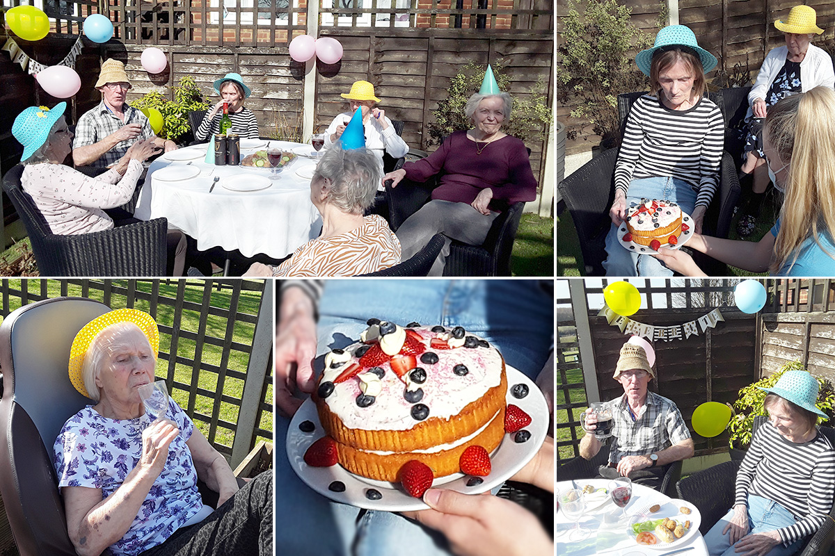 Happy birthday Betty at The Old Downs Residential Care Home
