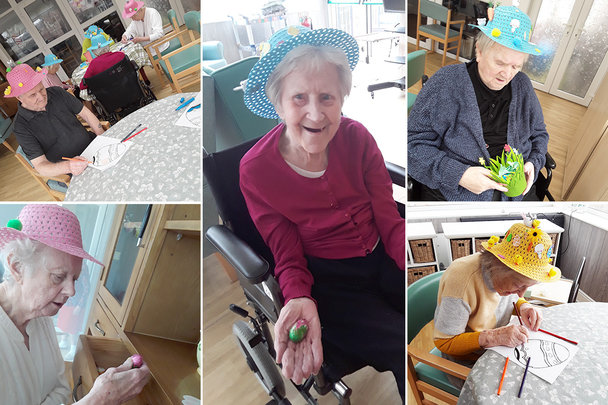 Easter crafts and egg hunt at The Old Downs Residential Care Home