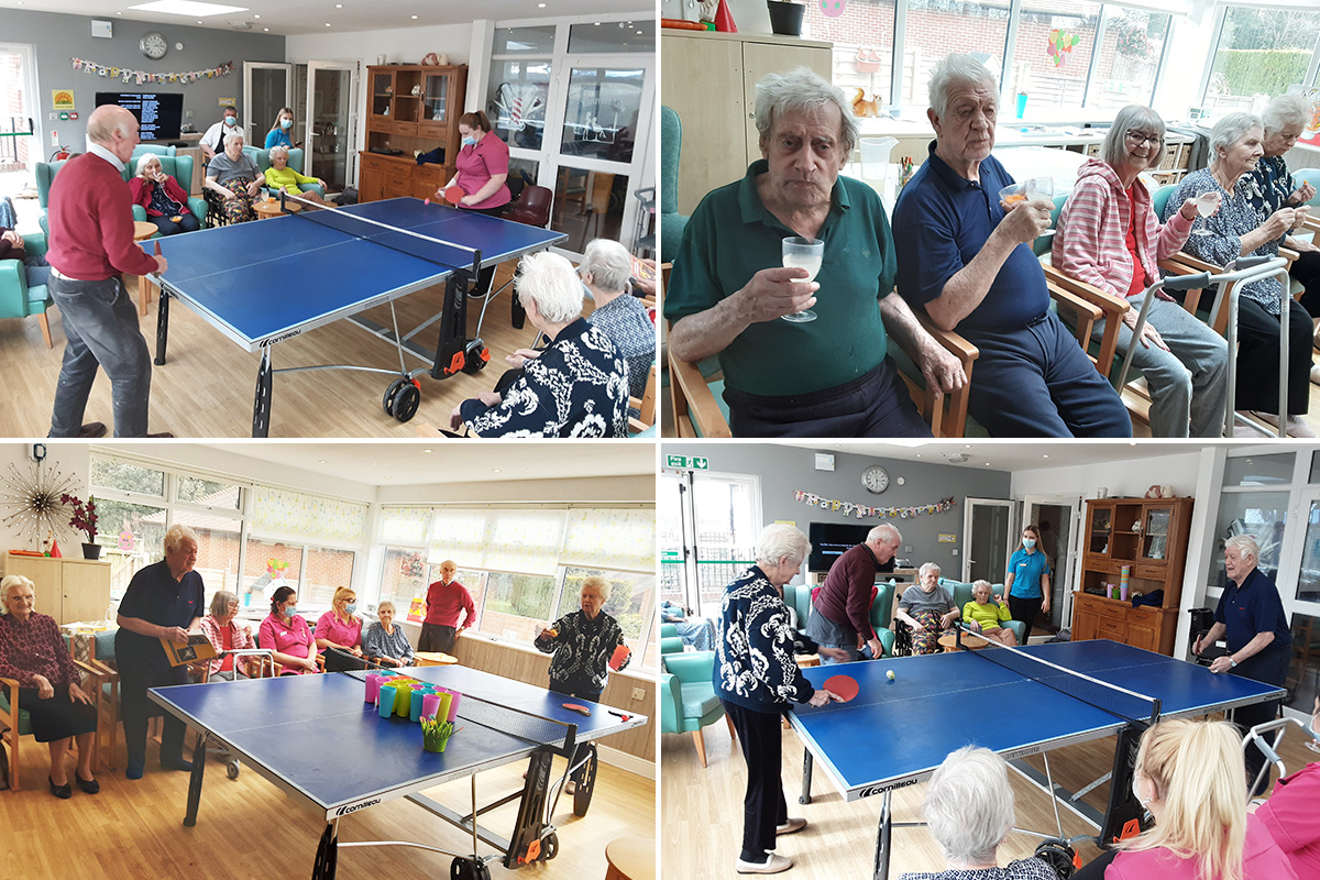 The Old Downs Residential Care Home celebrate World Table Tennis Day