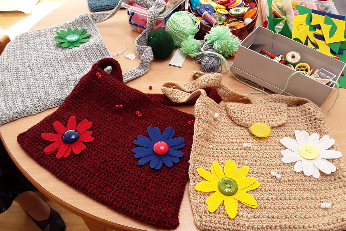 Sewing Club creations at The Old Downs Residential Care Home