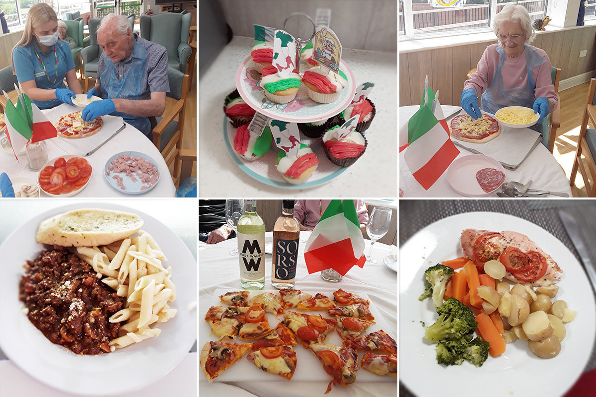 A delicious day in Italy at The Old Downs Residential Care Home