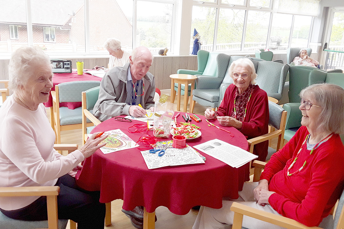 The Old Downs Residential Care Home residents enjoy Italian themed arts and crafts