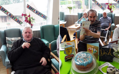 Double birthday celebrations at The Old Downs Residential Care Home