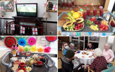 Football and feasting at The Old Downs Residential Care Home