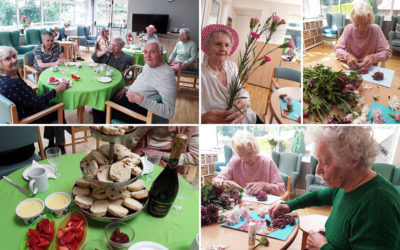 Fairy flowers and World Cream Tea Day at The Old Downs Residential Care Home