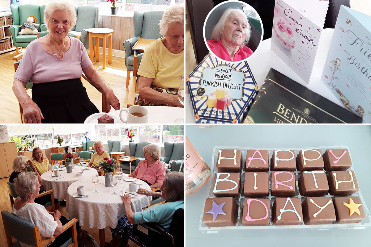 Birthday celebrations at The Old Downs Residential Care Home