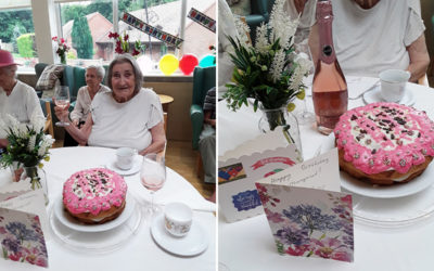 Happy birthday to Margaret at The Old Downs Residential Care Home