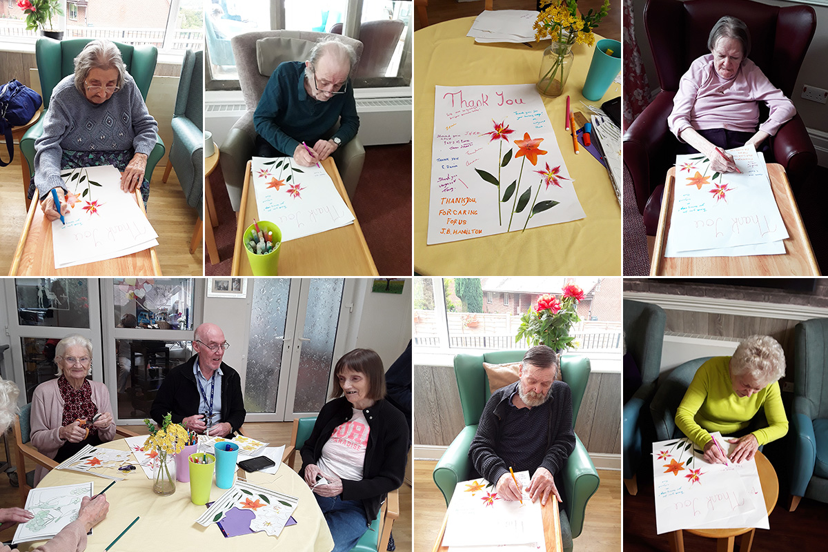 WorldLetterWriting Day at The Old Downs Residential Care Home