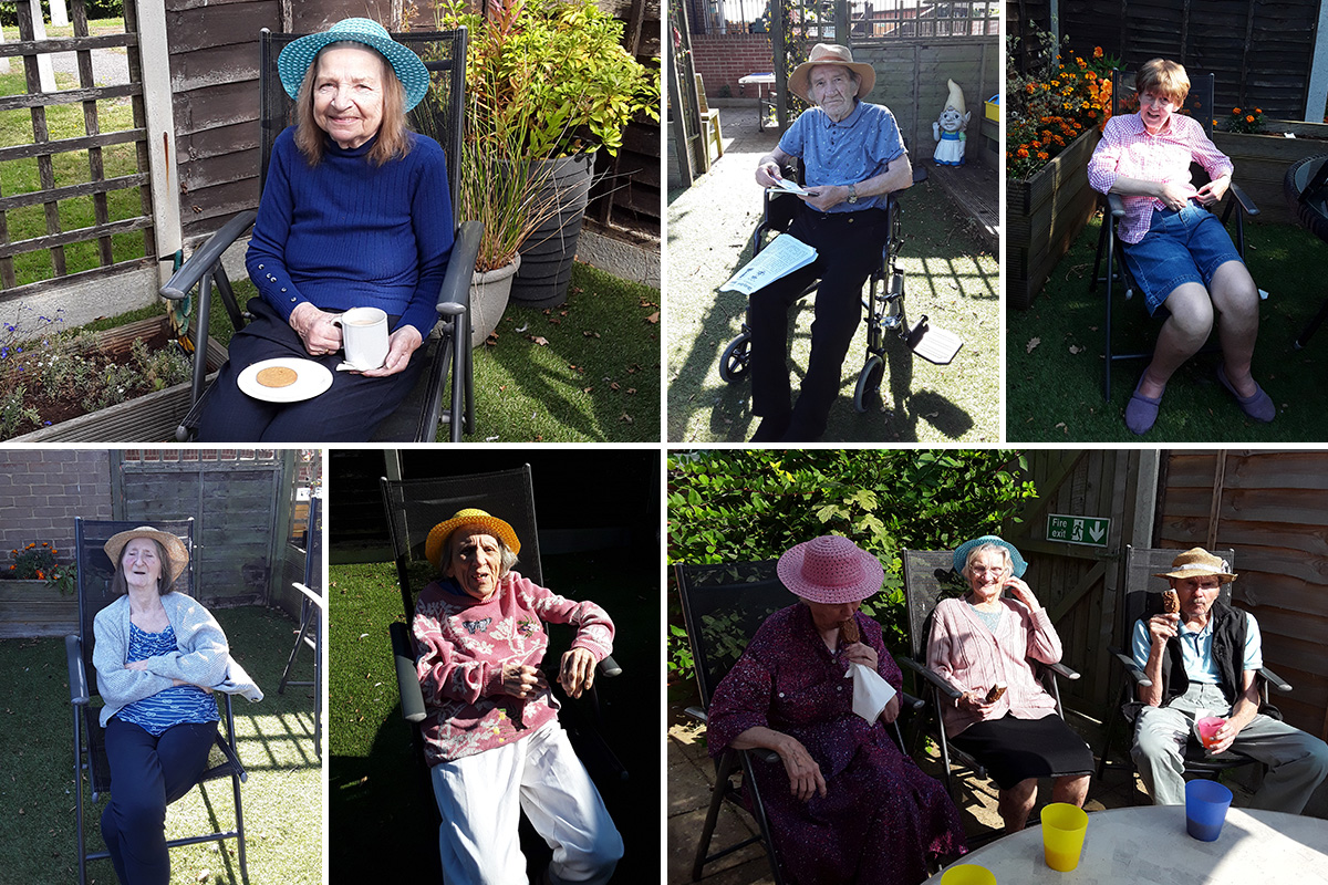 Garden relaxation at The Old Downs Residential Care Home