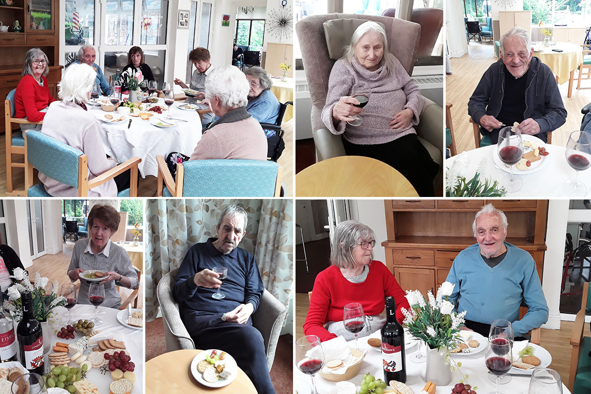 Raising a glass at The Old Downs Residential Care Home